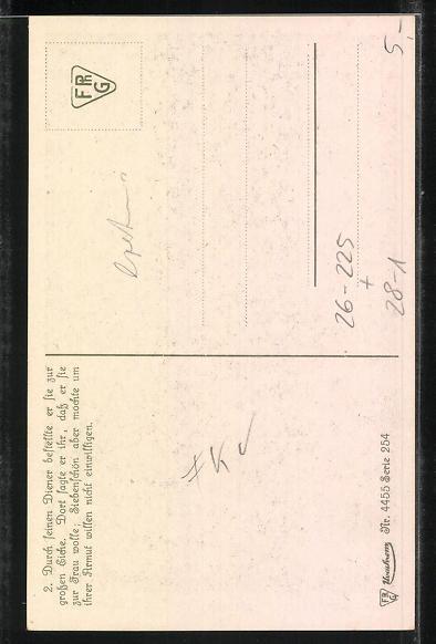 Künstler-AK Oskar Herrfurth: Ludwig Bechstein, Siebenschön, 2. Durch seinen Diener bestellte er sie zur grossen Eiche... 1