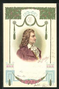 Präge-Lithographie Fr. v. Schiller, 1805 - 1905