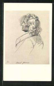 AK Jacob Grimm, Profilportrait