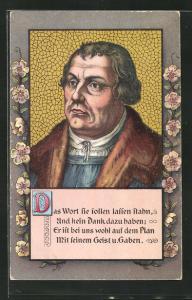 AK Zitat von Martin Luther Das Wort sie sollen lassen stahn...