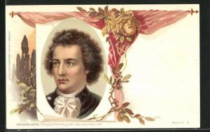 Lithographie Wolfgang Goethe, Portrait