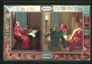 Lithographie Divina Commedia, Così facean li padri di coloro..., Dante