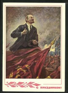 AK Lenin hält eine flammende Rede