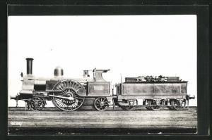 AK englische Eisenbahn Ivanhoe mit Kennung 675 und Bauschutt im Waggon