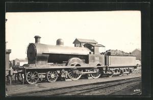 AK englische Eisenbahn mit Kennung 622 und Bauschutt im Waggon