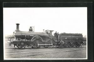 Foto-AK englische Eisenbahn der MR No. 808 mit Lokführer