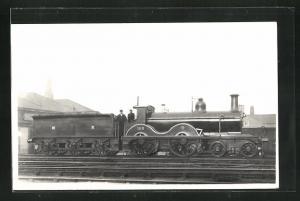 Foto-AK englische Eisenbahn der MR No. 193 mit Lokführer