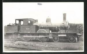 Foto-AK englische Eisenbahn Kennung 522 mit Lokführer