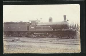 Foto-AK englische Eisenbahn der CNR no. 1078 mit Lokführer