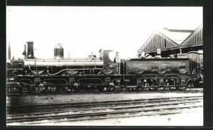 Foto-AK englische Eisenbahn Kennung 453 mit Lokführer