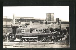 Foto-AK englische Eisenbahn Kennung 926 mit Zugführer