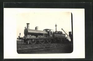 Foto-AK englische Eisenbahn Kennung 329 mit Lokführer