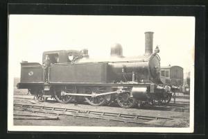 Foto-AK englische Eisenbahn Kennung 155 mit Zugführer