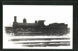 Foto-AK englische Eisenbahn Kennung 278 im verschneiten Bahnhof