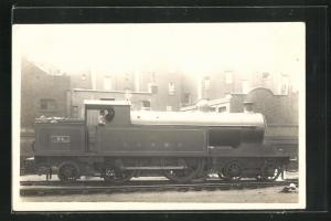 AK englische Eisenbahn, 44, L & N W R, Lokomotive mit Zugführer