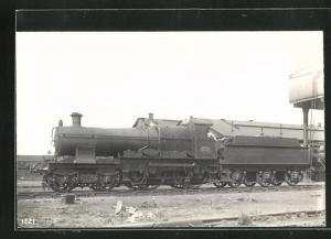 AK englische Eisenbahn, 4127, Great Western, Lokomotive mit Zugführer und Tender
