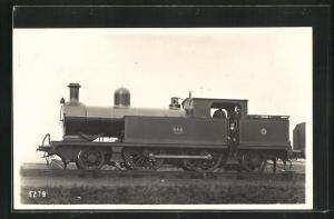 AK englische Eisenbahn, 664, Lokomotive mit Zugführer