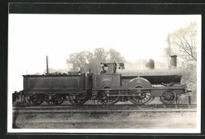AK englische Eisenbahn, 2001, Henry Crosfield, Lokomotive mit Zugführer und Kohlentender