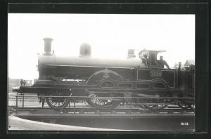 AK englische Eisenbahn, 1302, Oceanic, Lokomotive mit Zugführer