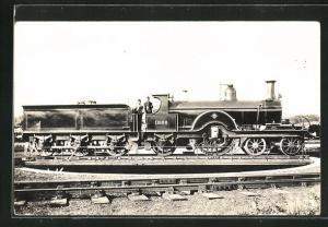 AK Englische Eisenbahn-Lokomotive No. 1866 mit Wagon