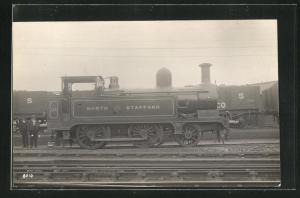 AK Englische Eisenbahn No. A31 auf dem Bahnhofsgelände