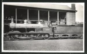 AK englische Eisenbahn mit Kennung 1782 und Lokführer
