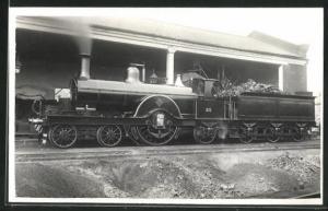 AK englische Eisenbahn mit Kennung 25 und Steinen im Waggon