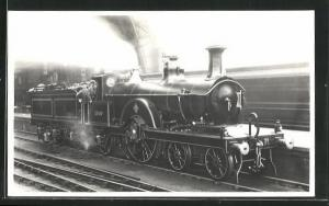 AK englische Eisenbahn der Gesellschaft MR mit Kennung 1660 und Lokführern