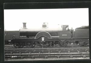 AK englische Eisenbahn mit Kennung 2602 und Lokführern
