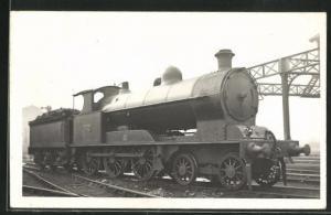AK englische Eisenbahn mit Kennung 1999 mit Bauschutt im Waggon