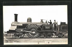 AK englische Eisenbahn Princess Royal mit Kennung 610 und Lokführern