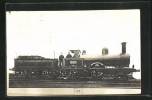 AK englische Eisenbahn Viscount mit Kennung 402 und Lokführern