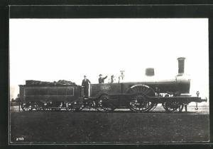 AK englische Eisenbahn Dunrobin mit Kennung 396 und Lokführern
