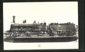 AK englische Eisenbahn mit Kennung 813 und Lokführern
