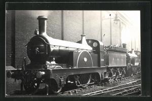 AK englische Eisenbahn der Gesellschaft GNR mit Kennung 234 im Bahnhof stehend