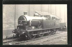 AK englische Eisenbahn Main Line der Gesellschaft GNR mit Kennung 1558 und Lokführer