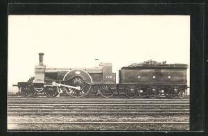 AK englische Eisenbahn der Gesellschaft GNR mit Kennung 773 und Bauschutt im Waggon