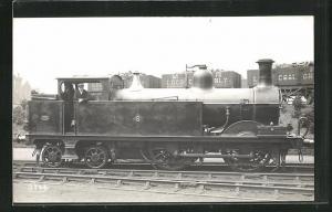 AK englische Eisenbahn mit Kennung 6 und Lokführer