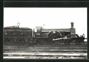 AK englische Eisenbahn der Gesellschaft GNR mit Kennung 1008 und Lokführer