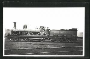 AK Englische Eisenbahn No. 1086 mit Kohlen-Waggon
