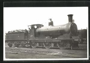 AK Englische Eisenbahn-Lokomotive No. 340 mit Kohlen-Waggon