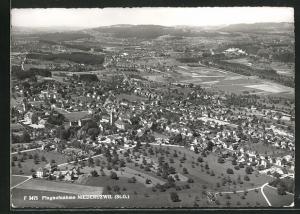 AK Niederuzwil / St. G., Ortsansicht vom Flugzeug aus