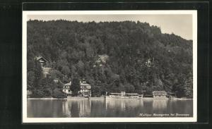 AK Immensee, Uferpartie am Kurhaus Baumgarten