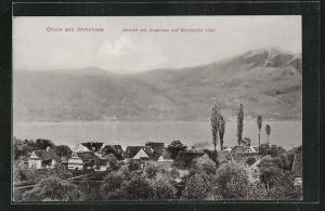 AK Immensee, Panorama mit Zugersee und Walchwiler Ufer