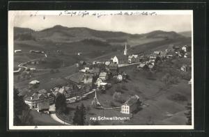 AK Schwellbrunn, Totalansicht, Luftaufnahme
