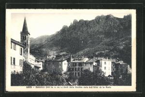 AK Sonvico, vue e denti della Vecchia vista dall'Hotel de la Poste