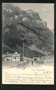 AK Wasserauen, Blick vom Feldweg auf den Ort mit Gasthaus Wasserau