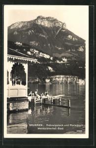 AK Brunnen, Frohnalpstock und Waldstätterhof-Bad