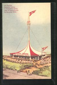 Künstler-AK Bruxelles, Exposition Universelle et Internationale 1935, Le Pavillon Brasserie Tuborg