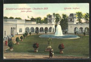 AK Stockholm, Konstindustriutställningen 1909, Nedre garden